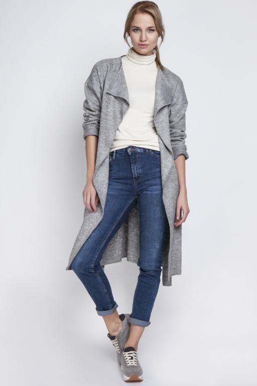 Ciepły płaszcz, PA101 szary
