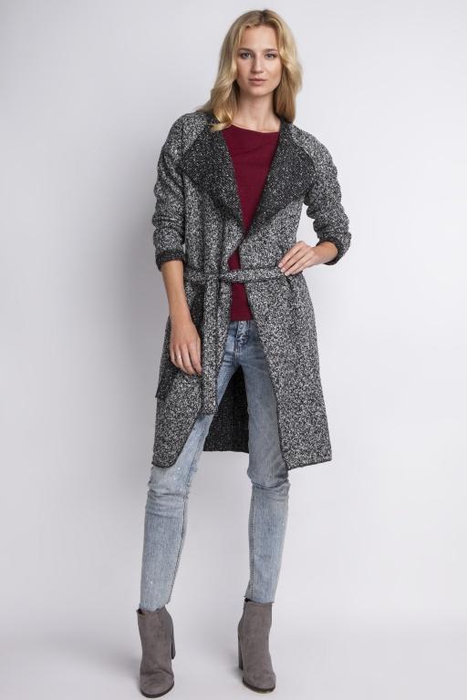 Płaszcz z klapami, PA102 szary