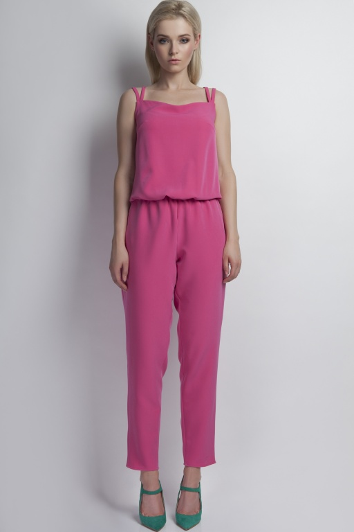 Jumpsuit shoulder straps, KB103 pink