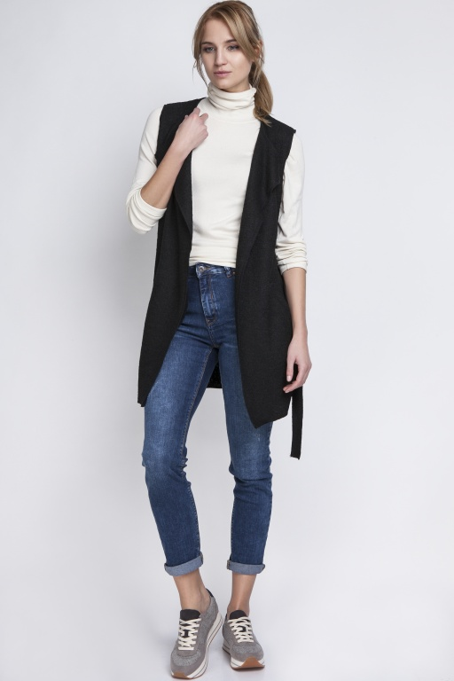 Stylish vest, KM101 black