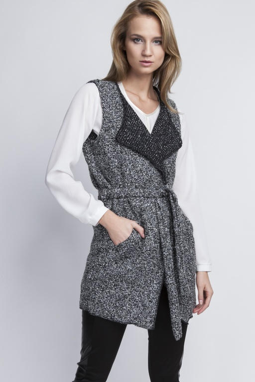 Long vest, KM102 gray