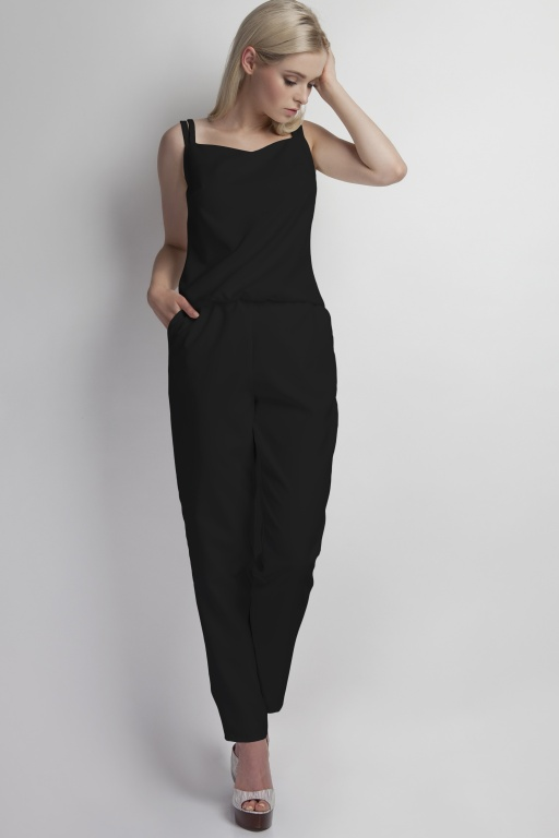 Jumpsuit shoulder straps, KB103 black