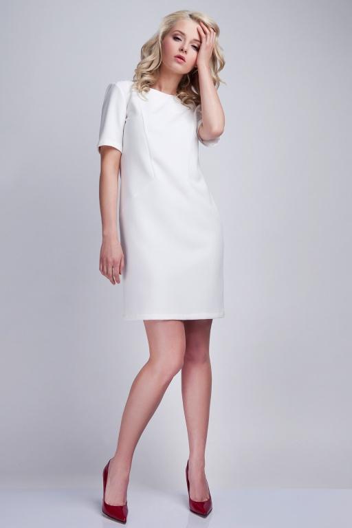 Kobieca sukienka, SUK118 ecru