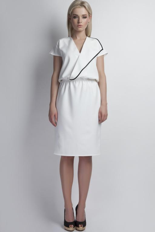 Envelope dress, SUK119 ecru