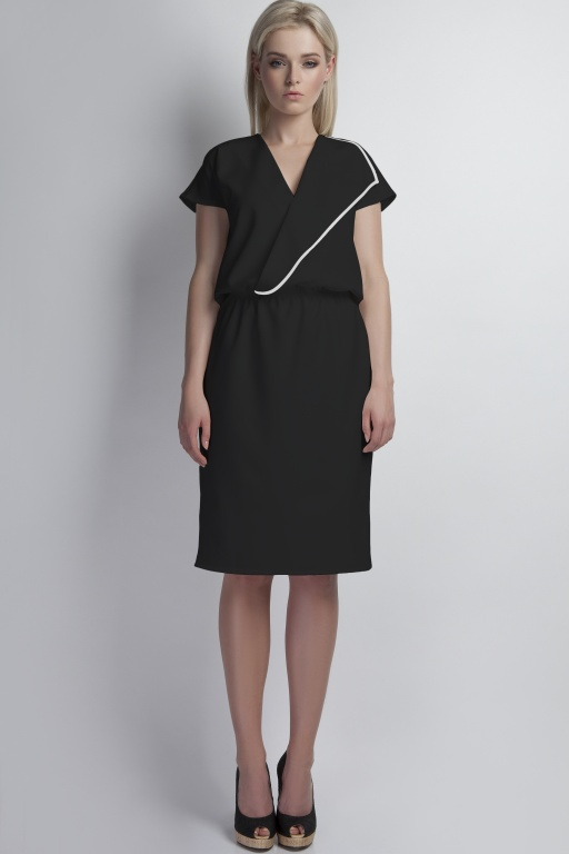 Kopertowa sukienka, SUK119 czarny