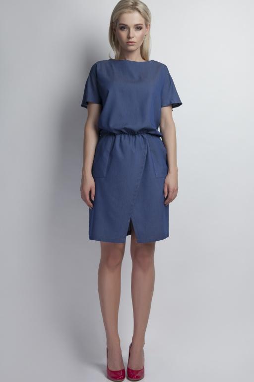 Sukienka z kieszeniami, SUK120 jeans