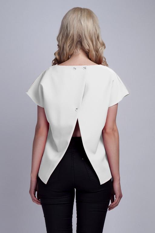 Blouse with the original back, BLU123 ecru