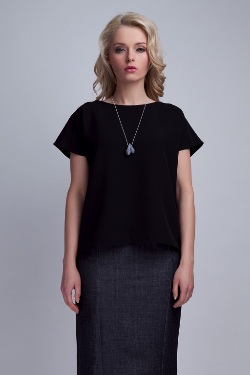 Blouse with the original back, BLU123 black