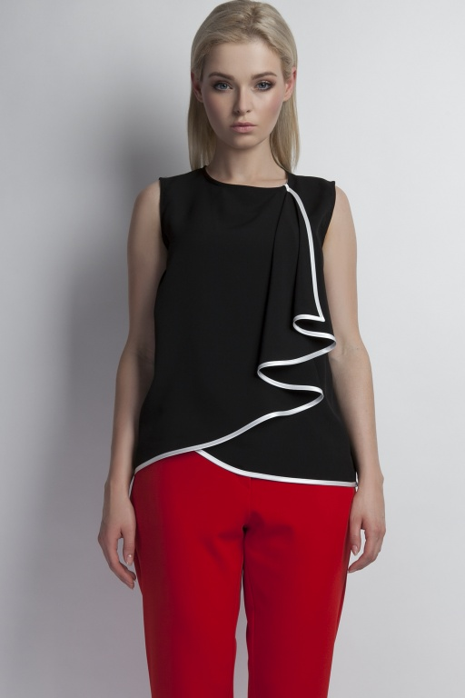 Sleeveless blouse, BLU124 black