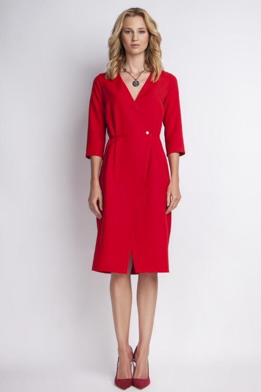 Elegancka sukienka, SUK131 czerwony