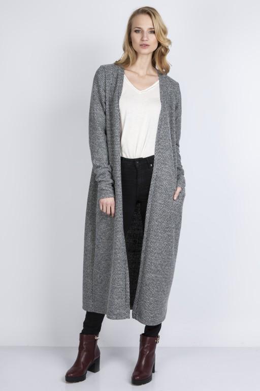 Długi sweter, SWE110 szary