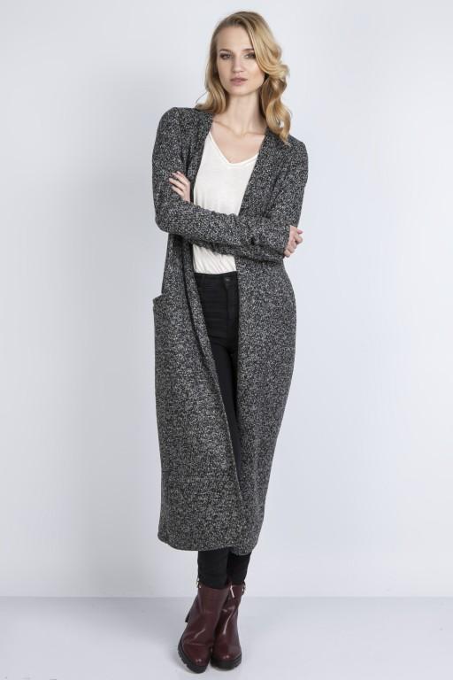 Długi sweter, SWE110 grafit