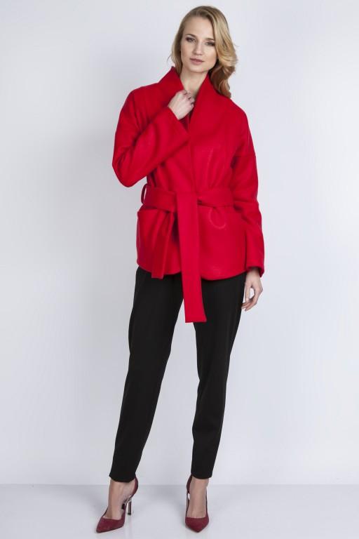 Wełniany płaszczyk, ZA115 czerwony