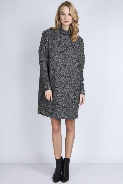 Dzianinowa sukienka, SUK135 grafit