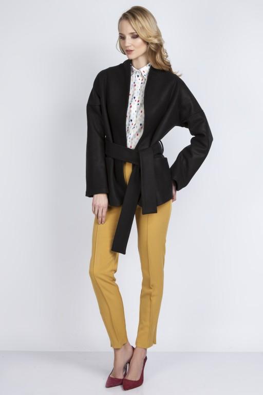 Woolen coat,  ZA115 black