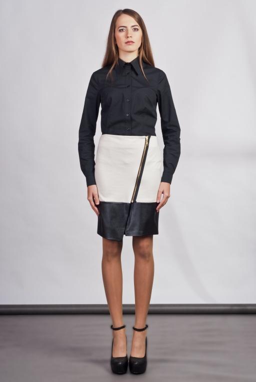 Asymetryczna spódnica, SP103 ecru