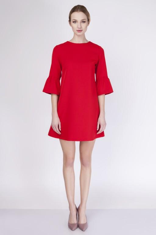 Trapezowa sukienka, SUK136 red