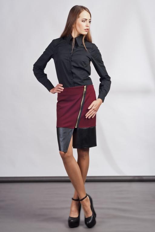 Asymetryczna spódnica, SP103 bordo