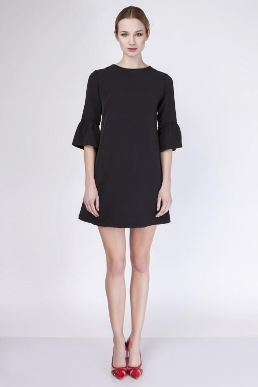 Trapezowa sukienka, SUK136 black