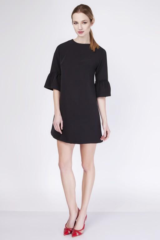 Trapezowa sukienka, SUK136 czarny