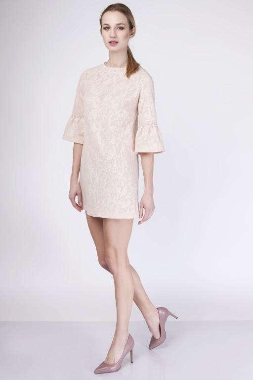 Trapezowa, koronkowa sukienka, SUK139 koronka