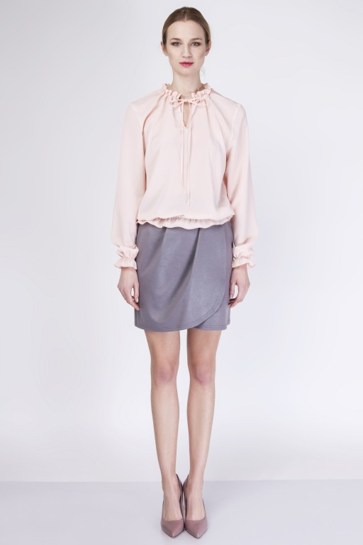 Skirt with overlap, SP113 gray