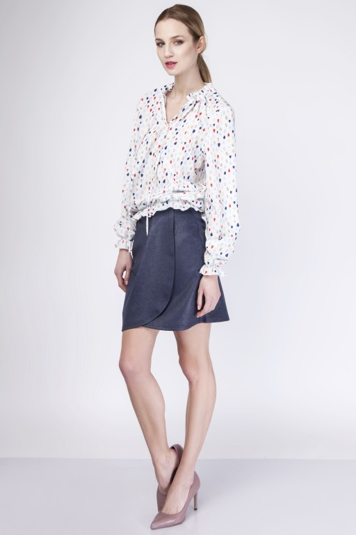 Skirt with overlap, SP113 navy