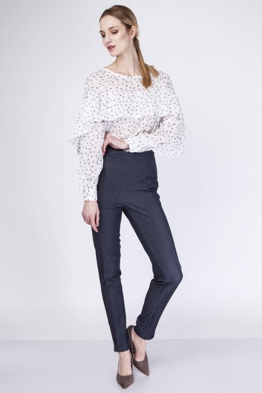 Fenomenalna bluzka, BLU130 piórka/ecru