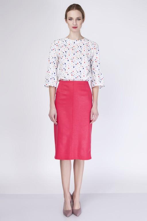 Elegancka ołówkowa spódnica, SP114 czerwony