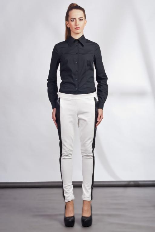 Spodnie z lampasami, SD102 ecru