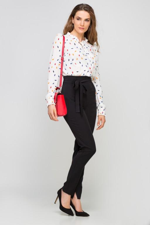 Spodnie z szarfą, SD113 czarny
