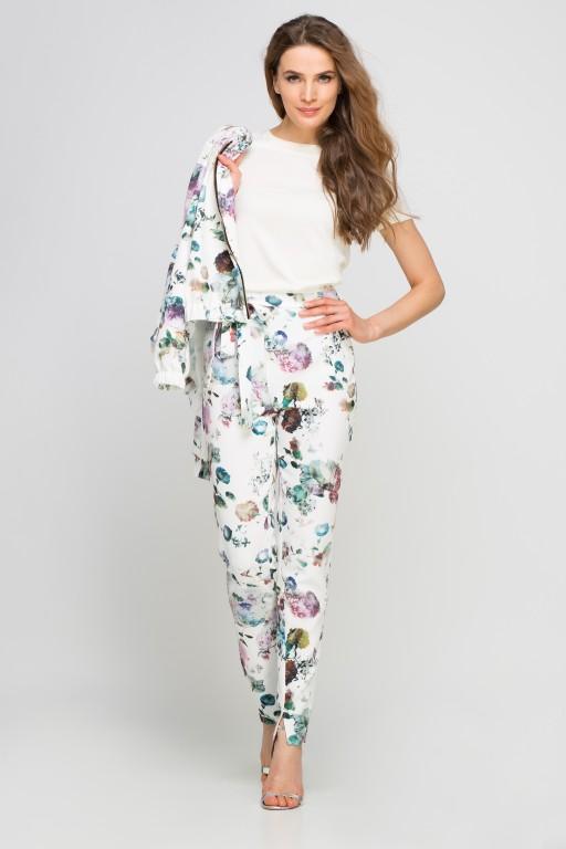 Spodnie z szarfą, SD113 kwiaty