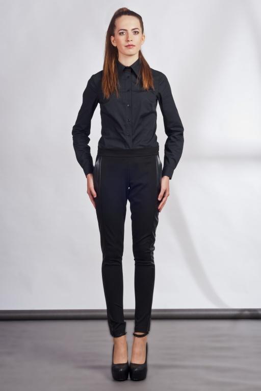 Spodnie z lampasami, SD102 czarny