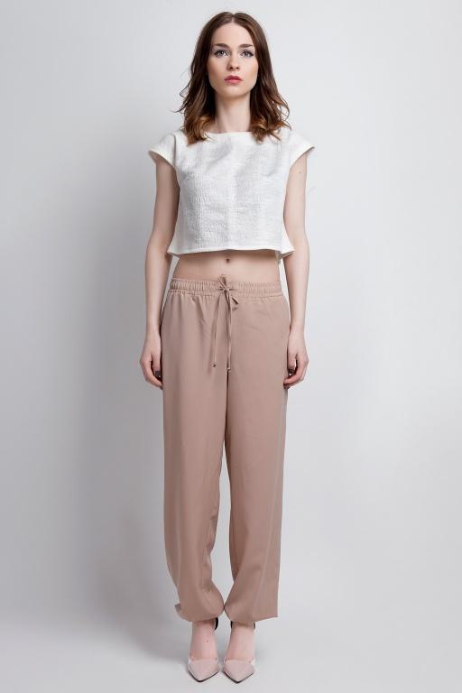 Zwiewne spodnie, SD105 beż