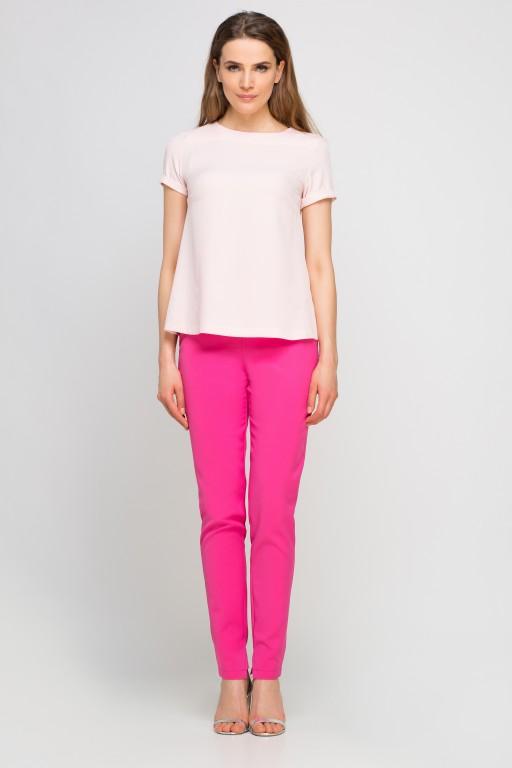 Elegant short sleeve blouse, BLU133 pink