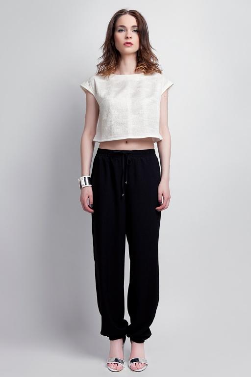 Zwiewne spodnie, SD105 czarny