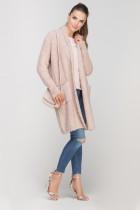 Długi, ciepły sweter, SWE111 róż