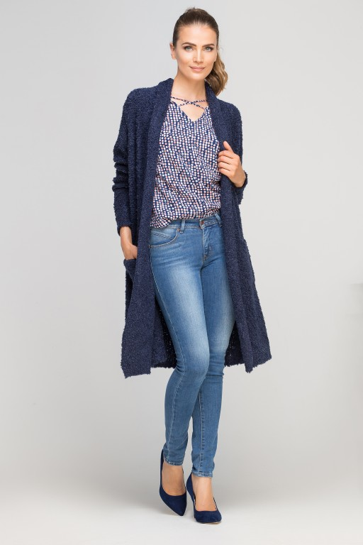 Extensive cardigan, SWE111 navy