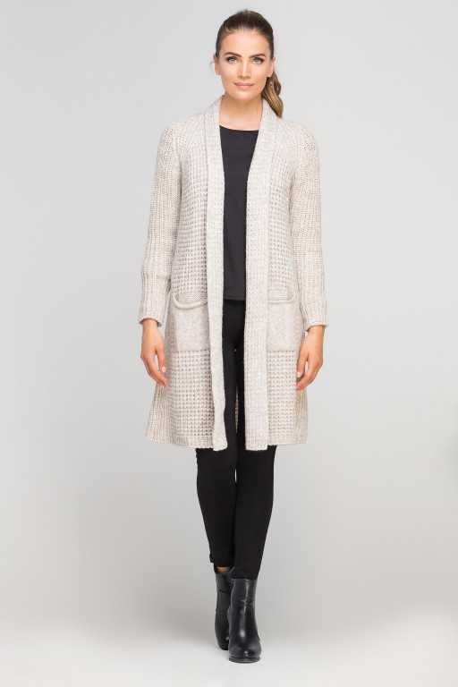 Knitted coat, SWE112 beige