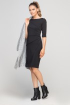 Sukienka dopasowana z przeszyciami, SUK146 czarny