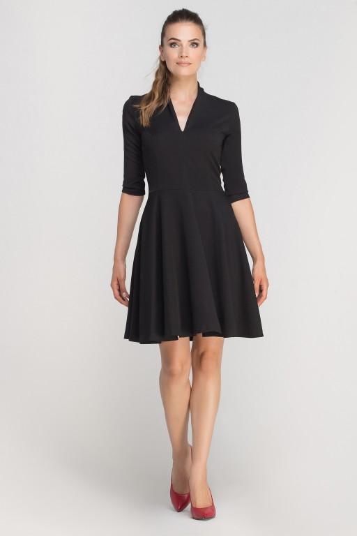 Dress matched with stitching, SUK147 black
