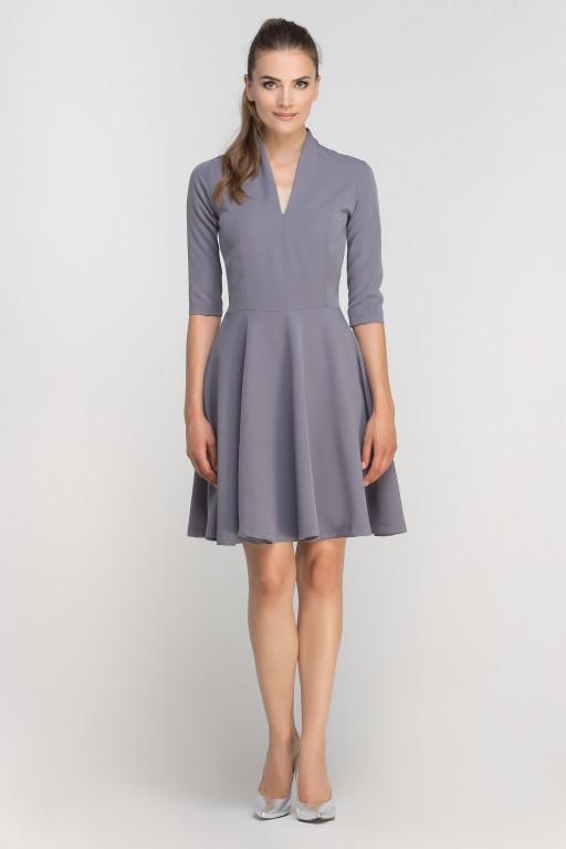 Dress matched with stitching, SUK147 grey