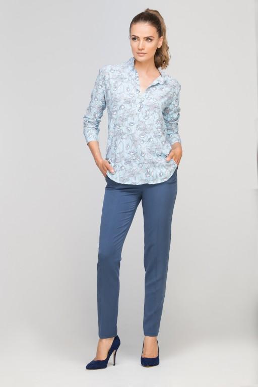 Koszula ze stójką, K107 błękit