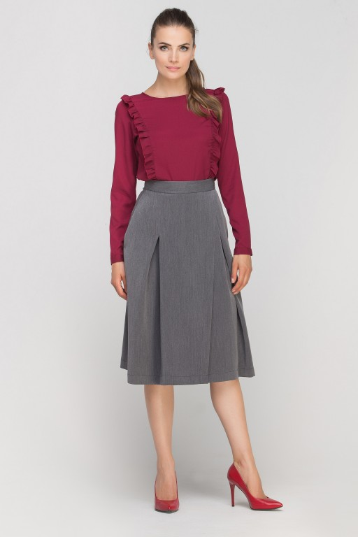 Skirt with envelope cut, SP116 graphite