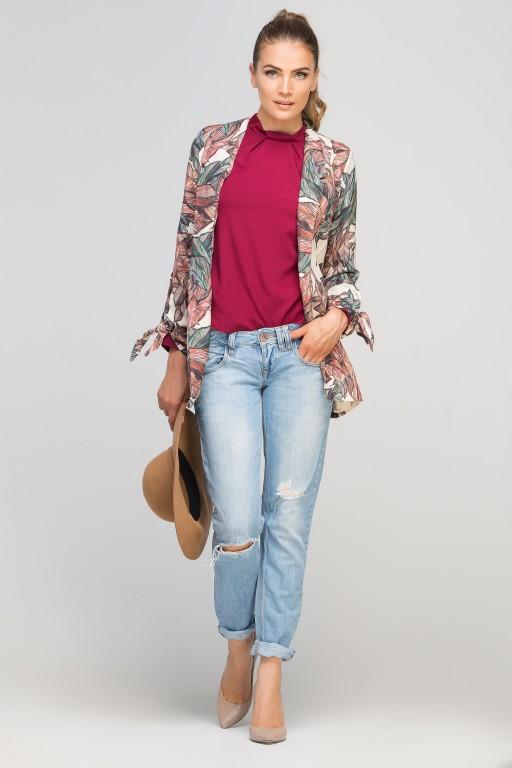 Classic jakcet with a fashion twist, ZA116 leaves