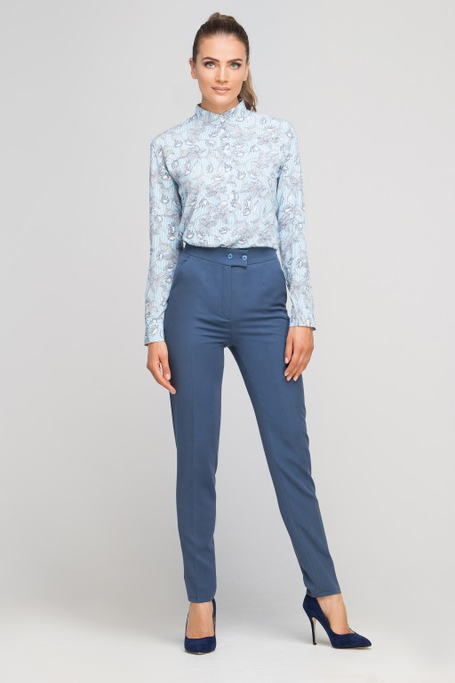 Pants without cuffs, SD114 blue