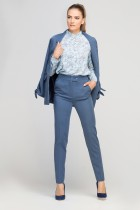 Żakiet z wiązanym rękawem, ZA116 niebieski