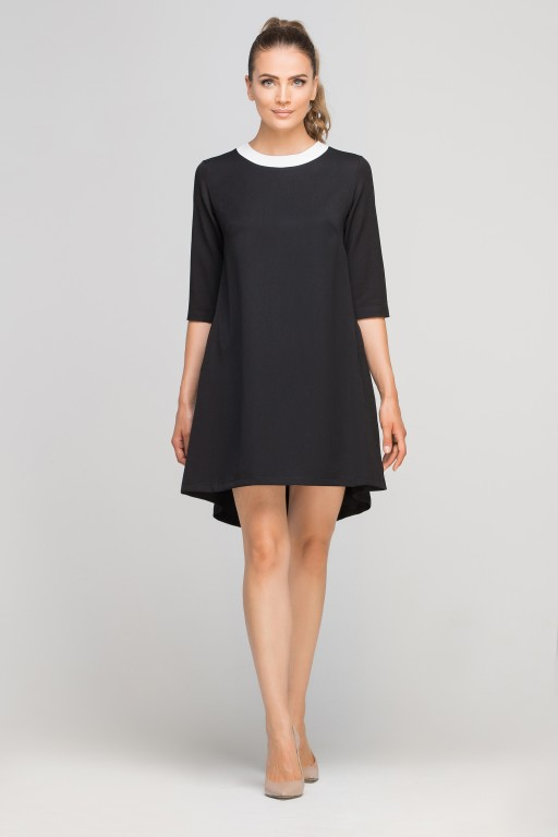 Dress with longer back, SUK148 black