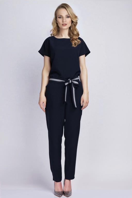 Jumpsuit with belt, KB102 black