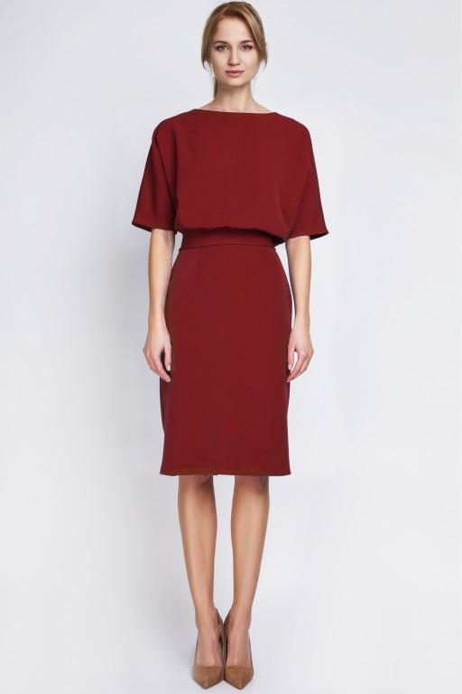 Dress tapered bottom, SUK123 burgundy